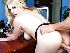 As far as colleges go, ZZ Tech isn't all it's cracked up to be. The recruitment video shows a hot blonde teacher showing off her huge natural boobs or her sweet pussy in every lesson. But when Johnny shows up to his first class, he finds the school seriou