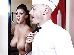 Couple of punks who were up to no good, started making trouble in the milkshake shop! Johnny got in one little fight with those finks, and it made him and his wife Alison Tyler really upset. As soon as they'd chased those greasers out the door, they got r