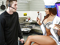 Everyone knows March 14 is every guy's turn to get lucky. Famous chef Madison Ivy celebrated Steak and a Blowjob Day with her tits out and her lusts raging. She was cooking up a hunk of prime beef, and since her husband doesn't have a taste for meat, she