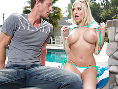 Christie Stevens decides to fuck her neighbor when the opportunity presents itself.