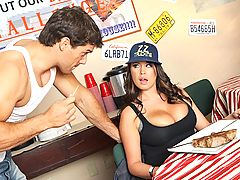 Sweet ol' Brandy Talore is a new ass trucker, who just so happens to have some big ass titties. During her first week on the open road, the hard truckin' vixen decides to take a pit stop at Big Willie Jr's Diner for a bite to eat. As a trucker tradition,