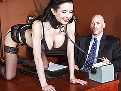 Veronica Avluv had no idea what she was getting into when she applied for the job as secretary to Mr. Sins. To pass the time during the boring stretches between typing projects, she started masturbating at her desk. Mr. Sins walked in on her one time with