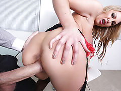 Leigh Darby is Danny D's busty boss, and she's a real hard case. When she fires her assistant for spilling a drink, there's a new job opening at the office, and both Danny and his coworker Chris want the position. Chris shows off his winning attitude and