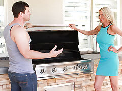 Emma is getting ready for her memorial day BBQ. She just cant seem to get the grill to work and heard of a handy man named Preston from one of her friends. She calls him over and he gets the grill to which it just so happens there was nothing wrong with i