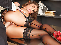 Bank Manager Deen has been trying forever to get a piece of Madison Ivy's sweet ass. But nothing he tries will bring her any closer to fucking him. Until being tied up in the vault during a random robbery gets Madison's pussy so wet, she can barely handle