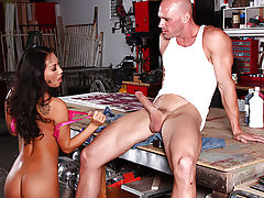 Asa Akira needs a place to hide out awhile. She ends up in an artist's studio, planning to squat for as long as she can. But when Johnny shows up to work, Asa notices what a big cock this ripped artist has. She drops to her knees and starts sucking him of