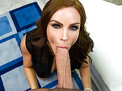 Clover and Diamond Foxxx are supposed to be filming scenes for a soap opera, but every time he wraps his arms around his Milf co-star Diamond Foxxx, he pops a massive boner. When the director called a break for them to focus and re-group, they just threw