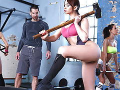 Aleska Diamond has had her eyes on her personal trainer Jay Snake for quite some time now. So when she catches him checking out her sweet ass while she's working out one day, she jumps at her chance to get a piece of his fat cock! She drops to her knees a