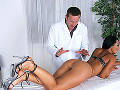 Sandra Romain really wants a deep muscle massage and absolutely no funny business Her masseuse wants to perform the task and wants nothing BUTT! Who wins? We all do in this no holds barred anal-filled adventure! Watch as Sandra's ass and body are worship