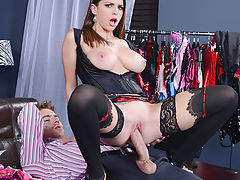 If your interns don't have any respect for the merchandise, then it's up to you as the boss to drill it into them. Danny could hear Brooklyn Chase giggling at his top-of-the-line lingerie from across the room. But when he ripped off that slut's clothing,